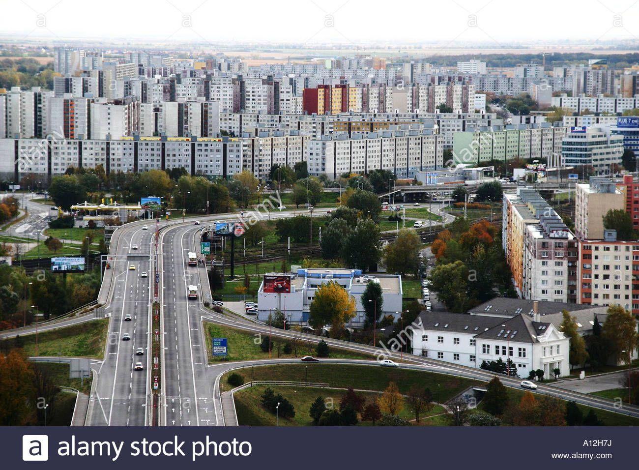 dense-communist-era-residential-tower-blocks-in-bratislava-slovak-A12H7J